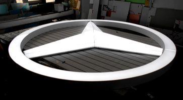 Логотип Мерседес световой объёмный